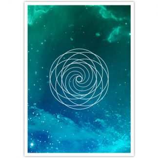 Golden Spiral postcard