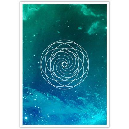 Golden Spiral postcard