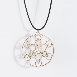 Merkaba necklace birch wood