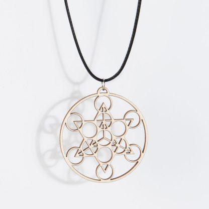 Merkaba necklace birch wood