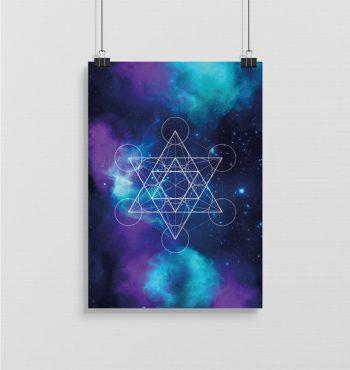 Metatron kubus poster A2