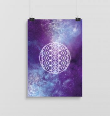 Flower of Life Poster Angelina Samadhi